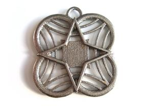 Star Medallion in Polished Bronzed Silver Steel