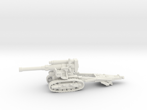 B-4 Soviet howitzer (Russia)-tractor 1/144 in White Natural Versatile Plastic