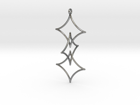 Interlocked Astroid Pendant in Interlocking Polished Silver