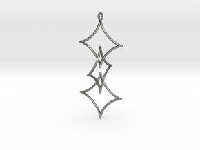 Interlocked Astroid Pendant in Polished Silver (Interlocking Parts)