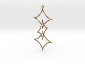 Interlocked Astroid Pendant in Polished Brass (Interlocking Parts)