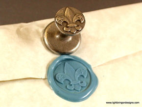 Fleur-de-lis Wax Seal in Stainless Steel