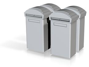 TJ-H01116x4 - Boite aux lettres moderne in Smooth Fine Detail Plastic