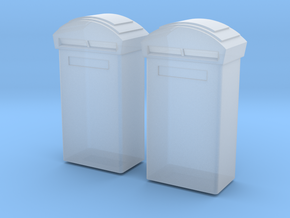 TJ-H01116x2 - Boite aux lettres moderne in Smooth Fine Detail Plastic