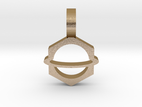 Planet Pendant 2 in Polished Gold Steel