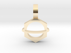 Planet Pendant 2 in 14K Yellow Gold