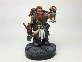 Dwarf Ranger in Smooth Fine Detail Plastic