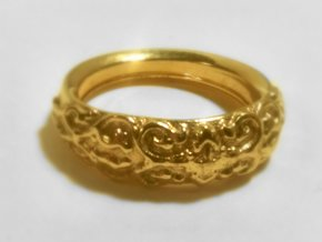 Arc Ring in 14k Gold Plated Brass: 8 / 56.75