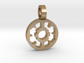 Flower Pendant in Polished Gold Steel