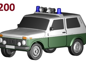 Lada-Niva VoPo (1:200) in Smooth Fine Detail Plastic