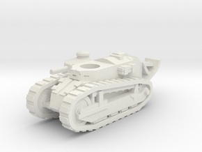 Renault FT tank (French) 1/87 in White Natural Versatile Plastic