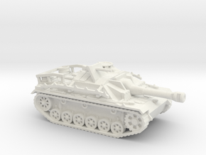Sturmgeschutz III tank (Germany) 1/87 in White Natural Versatile Plastic