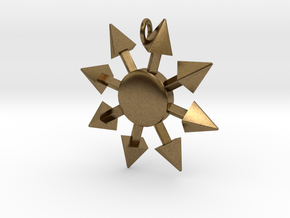 Chaos Star without engraving in Natural Bronze