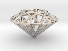 Diamond necklace pendant in Platinum