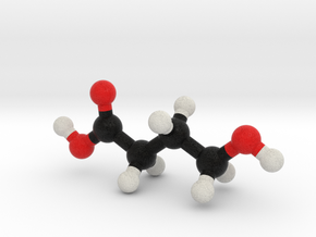 GHB Molecule Model. 3 Sizes. in Full Color Sandstone: 1:10