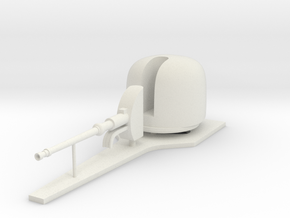 1:96 OTO Melara 76 mm/62 caliber naval gun in White Natural Versatile Plastic