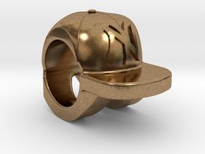 new york yankees baseball cap charm in Natural Brass