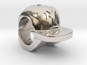 new york yankees baseball cap charm in Platinum