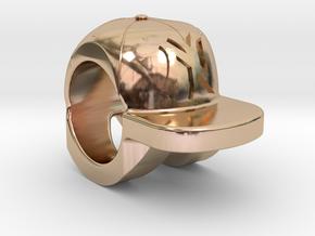 new york yankees baseball cap charm in 14k Rose Gold Plated Brass