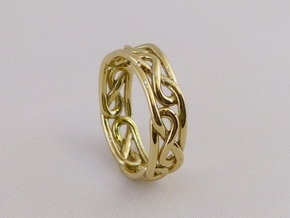 Celtic Infinity Knot Ring in Polished Brass: 7 / 54