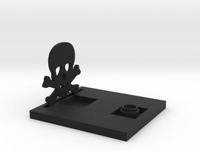 Skull Decoration Table Lamp in Black Natural Versatile Plastic