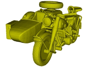 1/87 scale WWII Wehrmacht motorcycle x 1 in Smooth Fine Detail Plastic