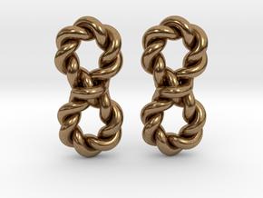 Twistfinity Earrings in Natural Brass