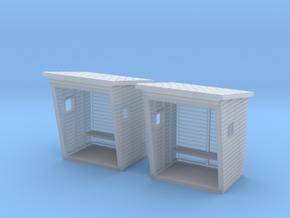 TJ-H01186x2 - Abribus bois in Smooth Fine Detail Plastic