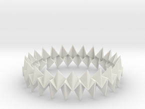 Small Bracelet WB - Origami Inspired Design   in White Natural Versatile Plastic