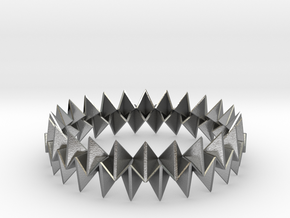 Small Bracelet WB - Origami Inspired Design   in Natural Silver