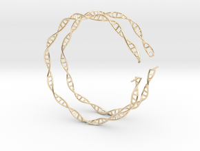 "Double Helix 75 mm (3"") Hoops in 14K Yellow Gold"