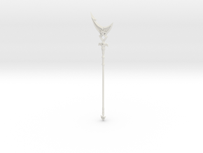 """BotW"" Silverscale Spear in White Natural Versatile Plastic: 1:12"