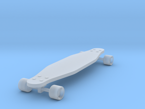 1/24 Scale Long Board  (Wheel Cutout) in Frosted Ultra Detail