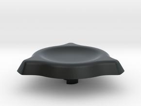 Spinner Cap 1.1 in Black Hi-Def Acrylate