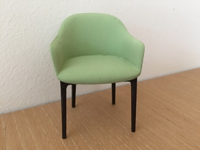 Upholstered Chair, 1:12, 1:24 in White Processed Versatile Plastic: 1:12
