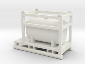 1:64 550 Gallon Skid Fuel Tank  in White Natural Versatile Plastic