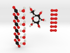 Photosynthesis Molecule Model Set. 3 Sizes. in Full Color Sandstone: 1:10