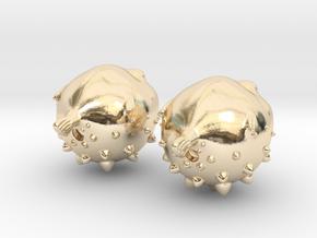 Blowfish Earrings  in 14K Yellow Gold