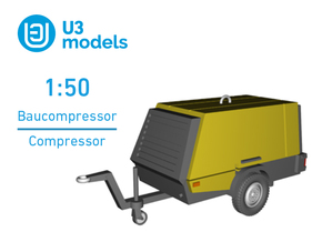 1:50 Baukompressor / Construction Compressor in Smooth Fine Detail Plastic