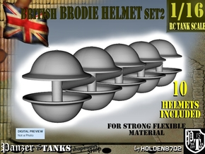 1-16 Brodie Helmet Set2 in White Natural Versatile Plastic