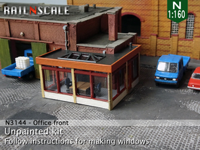Office front (N 1:160) in Smooth Fine Detail Plastic