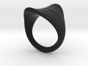 MizNK Ring NO.5 Inspired by the Sea in Black Natural Versatile Plastic: 5.5 / 50.25