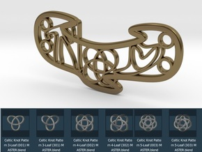 Personalised Celtic Knot Love Bracelet in Polished Bronze