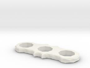 Batman 2 Winged Spinner. in White Natural Versatile Plastic