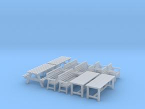 H0 1:87 Gartenmöbel in Smooth Fine Detail Plastic