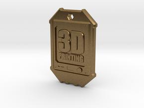 Dogtag 3D-Printing in Natural Bronze