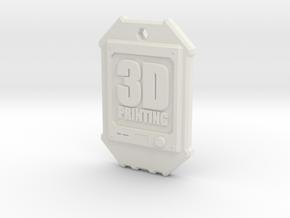 Dogtag 3D-Printing in White Natural Versatile Plastic