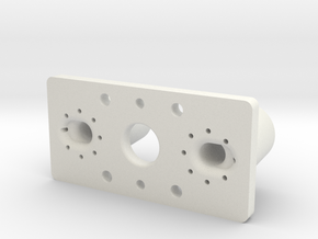 Connector Elbow 2 Shoulder Two 10mm Extended in White Natural Versatile Plastic