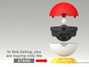 "Pokeball Pokemon Go ""Ring Box"" (STAND) in Yellow Strong & Flexible Polished"