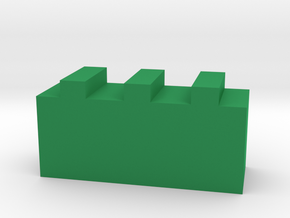Game Piece, Great Wall in Green Processed Versatile Plastic